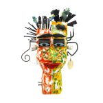 """""""Homem a Dois Tempos"""", 2016, Acrílico sobre madeira, metal, bonecos de plástico, 40x50x13cm [INDISPONÍVEL / UNAVAILABLE]"""