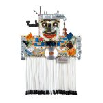 """""""Dança do Ventre"""", 2016, Madeira pintada, metal, borracha, objectos encontrados, 56x52x27cm [INDISPONÍVEL / UNAVAILABLE]"""