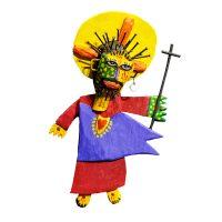 """""""Cristo de Santa Bárbara"""", 2016, Acrílico sobre madeira, metal, 25x45x18cm [INDISPONÍVEL / UNAVAILABLE]"""