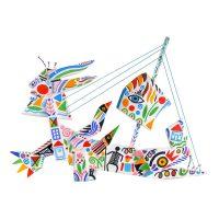 """Barco Bicho"", 2011, Óleo sobre madeira, 56x43x8cm [INDISPONÍVEL / UNAVAILABLE]"