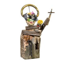 """Santo António"", 2016, madeira, corrente, torneira, pregos, metal, 30x50x20cm [INDISPONÍVEL / UNAVAILABLE]"