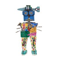 """Robô Músico"", 2016, madeira pintada, objectos encontrados, 18x31x7cm [INDISPONÍVEL / UNAVAILABLE]"