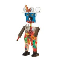 """Robô"", 2016, madeira pintada, objectos encontrados, 15x34x12cm [INDISPONÍVEL / UNAVAILABLE]"
