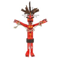 """Cristo das Cordas"", 2016, madeira pintada, correntes, pregos, metal, corda, 46x75x14cm [INDISPONÍVEL / UNAVAILABLE]"