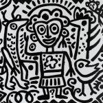 """""""Animalista"""", 2016, Esmalte sobre aglomerado de madeira, 100x80cm [INDISPONÍVEL / UNAVAILABLE]"""