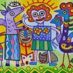 """""""Animalista Colorida"""", 2016, Acrílico sobre tela, 100x90cm [INDISPONÍVEL / UNAVAILABLE]"""