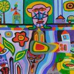 """""""Mundo e Submundo"""", 2016, Acrílico sobre tela, 90x70cm [INDISPONÍVEL / UNAVAILABLE]"""