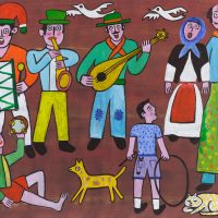 """""""Festa Portuguesa"""", 2012, óleo sobre tela, 100x80cm [INDISPONÍVEL / UNAVAILABLE]"""