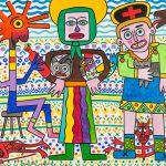 """""""Santa Lavradeira a Caminho da Praça"""", 2016, Acrílico sobre tela, 100x81cm [INDISPONÍVEL / UNAVAILABLE]"""