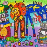 """O Corcunda com Pantufas"", 2016, Acrílico sobre tela, 100x80cm [INDISPONÍVEL / UNAVAILABLE]"