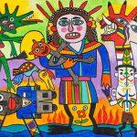 """""""Santíssima com filho ao colo"""", 2016, Acrílico sobre tela, 100x80cm [INDISPONÍVEL / UNAVAILABLE]"""