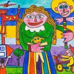 """""""Mulher de Cara Larga"""", 2016, Acrílico sobre tela, 80x70cm [INDISPONÍVEL / UNAVAILABLE]"""
