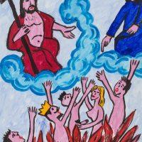 """""""O Céu e o Inferno"""", óleo sobre papel, 29x42cm [INDISPONÍVEL / UNAVAILABLE]"""