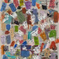 Desenho, tinta sobre papel de jornal, 2010, [INDISPONÍVEL / UNAVAILABLE]