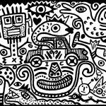 """""""Diabo de Automóvel"""", 2016, Esmalte sobre aglomerado de madeira, 100x80cm [INDISPONÍVEL / UNAVAILABLE]"""