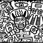 """""""Olho dos Diabos"""", 2016, Esmalte sobre aglomerado de madeira, 100x80 cm [COLECÇÃO CRUZES CANHOTO]"""