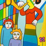 """A Mulher da Vuvuzela"", 2016, Óleo sobre tela, 40x60cm [INDISPONÍVEL / UNAVAILABLE]"