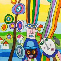 """""""Presos pelos Cabelos"""", 2016, óleo sobre tela, 60x70cm [INDISPONÍVEL / UNAVAILABLE]"""