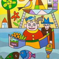 """""""Barco nas Escadas"""", 2016, óleo sobre tela, 60x70cm [INDISPONÍVEL / UNAVAILABLE]"""