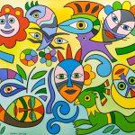 """Trópico das Máscaras"", 2016, Óleo sobre tela, 120x80cm [INDISPONÍVEL / UNAVAILABLE]"
