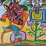 """Idalécio, """"Sem título"""", 2016, Óleo sobre papel, 29x42 cm [INDISPONÍVEL/UNAVAILABLE]"""