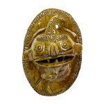 Placa com Diabo Cabeçudo, 1960-70, Barro vidrado, 15x22x12cm