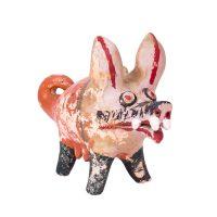 """""""Porco"""", 1950-60, Barro pintado, 9x15x18 cm"""