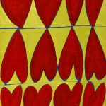 """""""Corações"""", Acrílico sobre tela, 10x15 cm"""