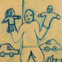 """Garatuja infantil"", óleo sobre tela, 50x65cm [INDISPONÍVEL / UNAVAILABLE]"