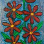 """""""As Flores para a Avozinha"""", Óleo sobre tela, 73x92 cm [INDISPONÍVEL / UNAVAILABLE]"""