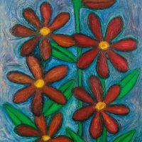 """""""As Flores para a Avozinha"""", óleo sobre tela, 73x92cm [INDISPONÍVEL / UNAVAILABLE]"""