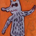"""""""Menino Vestido de Lobo"""", Acrílico sobre papel, 41x58 cm [INDISPONÍVEL / UNAVAILABLE]"""