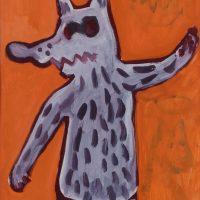 """""""Menino Vestido de Lobo"""", acrílico sobre papel, 41x58cm [INDISPONÍVEL / UNAVAILABLE]"""