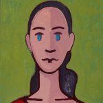"""A Menina II"", Acrílico sobre cartolina, 31x47 cm"
