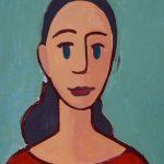 """""""A Menina I"""", Acrílico sobre cartolina, 31x47 cm"""