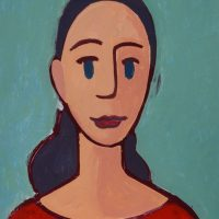 """A Menina I"", acrílico sobre cartolina, 31x47cm [INDISPONÍVEL / UNAVAILABLE]"