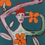 """""""Pinóquio, Mãos de Flor I"""", Acrílico sobre cartolina, 29x39 cm"""