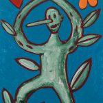 """""""Pinóquio, Mãos de Flor II"""", Acrílico sobre cartolina, 29x39 cm"""