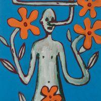 """""""Pinóquio, Mãos de Flor III"""", acrílico sobre cartolina, 29x39cm [INDISPONÍVEL / UNAVAILABLE]"""
