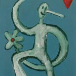 """""""Pinóquio, Mãos de Flor IV"""", Acrílico sobre cartolina, 29x39 cm"""
