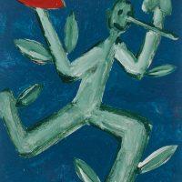 """""""Pinóquio, Mãos de Flor e Coração I"""", acrílico sobre cartolina, 29x39cm [INDISPONÍVEL / UNAVAILABLE]"""