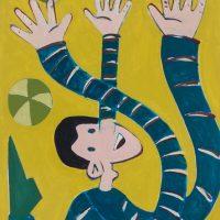 """""""Pinóquio Malabarista II"""", acrílico sobre cartolina, 24x33cm [INDISPONÍVEL / UNAVAILABLE]"""