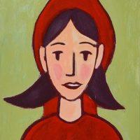 """""""A Capuchinho Vermelho"""", acrílico sobre cartolina, 29x40cm [INDISPONÍVEL / UNAVAILABLE]"""