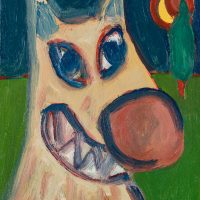 """""""O Lobo e a Lua"""", óleo sobre tela, 24x30cm [INDISPONÍVEL / UNAVAILABLE]"""