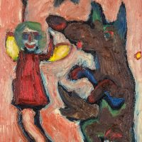 """""""A Fada e a Raposa"""", óleo sobre tela, 30x40cm [INDISPONÍVEL / UNAVAILABLE]"""