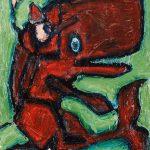 """""""Pinóquio e a Baleia"""", Óleo sobre tela, 24x30 cm"""