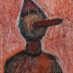 """""""Pinóquio, o Menino de Madeira I"""", Óleo sobre tela, 24x30 cm"""
