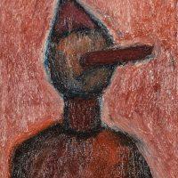"""""""Pinóquio, o Menino de Madeira I"""", óleo sobre tela, 24x30cm [INDISPONÍVEL / UNAVAILABLE]"""
