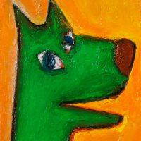 """O Lobo Mau"", óleo sobre tela, 15x20cm [INDISPONÍVEL / UNAVAILABLE]"