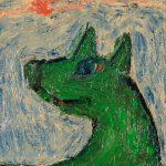 """O Lobo"", Óleo sobre tela, 15x20 cm [INDISPONÍVEL / UNAVAILABLE]"